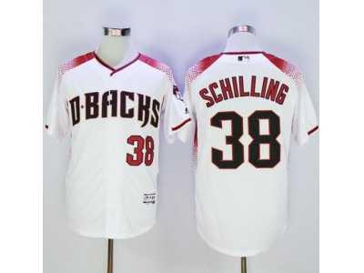 b4d41f6e1 Arizona Diamondbacks  38 Curt Schilling White-Brick New Cool Base Stitched  Baseball Jersey