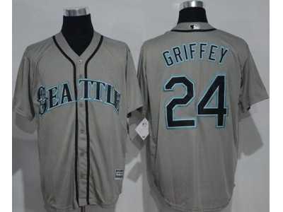 seattle mariners 24 ken griffey grey new cool base stitched mlb jersey