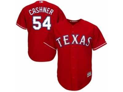 0f182a8b7 Men  s Majestic Texas Rangers  54 Andrew Cashner Replica Red Alternate Cool  Base