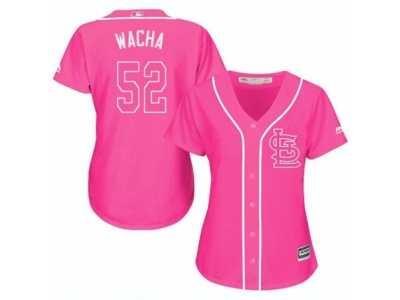 e6ed0ff9b42 Women  s Majestic St. Louis Cardinals  52 Michael Wacha Replica Pink Fashion