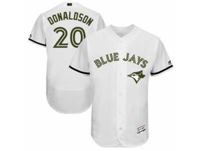 bc6eda593 Men 2017 Memorial Day Toronto Blue Jays  20 Josh Donaldson Flex Base Jersey