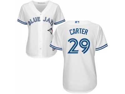 f8b8b9ca2 womens toronto blue jays 29 joe carter white home stitched mlb jersey