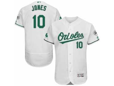 a4c475b9f Men  s Majestic Baltimore Orioles  10 Adam Jones White Celtic Flexbase  Authentic Collection