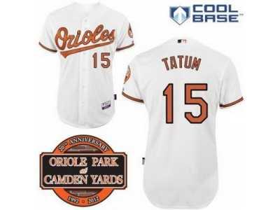 b906253a4 mlb Baltimore Orioles  15 Craig Tatum white Cool Base 20th Anniversary Patch
