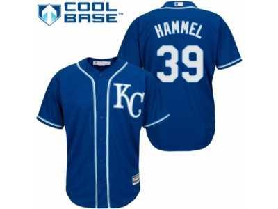 7fda873cf Youth Majestic Kansas City Royals  39 Jason Hammel Replica Blue Alternate 2  Cool Base MLB