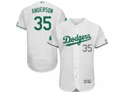 c33d30bbc Men  s Majestic Los Angeles Dodgers  35 Brett Anderson White Celtic Flexbase  Authentic