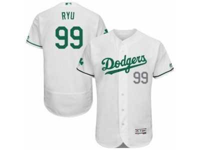 120a95fc4 Men s Majestic Los Angeles Dodgers  99 Hyun-Jin Ryu White Celtic ...