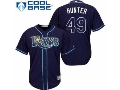 a77b5c991d3 ... Men's Majestic Tampa Bay Rays #49 Tommy Hunter Replica Navy Blue  Alternate Cool Base MLB