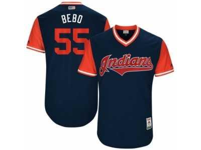 Cheap Men's 2017 Little League World Series Indians Roberto Perez #55 Bebo  free shipping