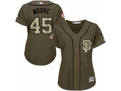 newest 5aad8 6db90 Women's Majestic San Francisco Giants #45 Matt Moore Replica ...