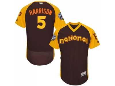 ea0cd4413 Men s Majestic Pittsburgh Pirates  5 Josh Harrison Brown 2016 All-Star  National League BP