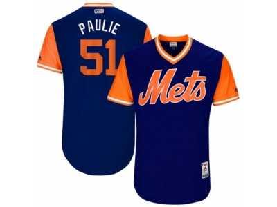 5d46b91ab Men s 2017 Little League World Series Mets Paul Sewald  51 Paulie Royal  Jersey