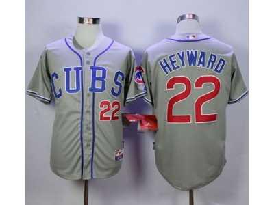 df5f41530 ... Chicago Cubs  22 Jason Heyward Grey Alternate Road Cool Base Stitched  MLB Jersey