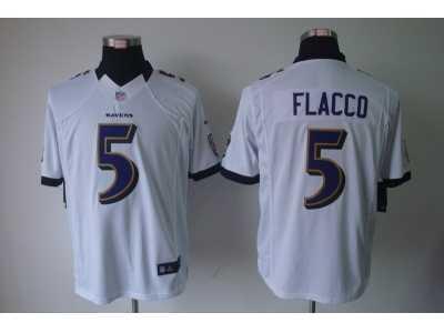 8cc9e8026 Nike NFL Baltimore Ravens  5 Joe Flacco white Jerseys(Limited) Nike ...