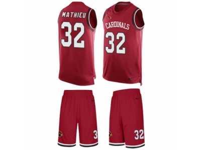 1cea5b3a161 Men s Nike Arizona Cardinals  32 Tyrann Mathieu Limited Red Tank Top Suit NFL  Jersey