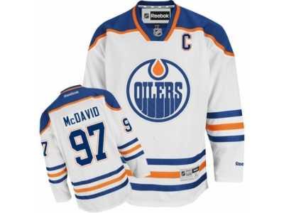 488049a9 Men\'s Reebok Edmonton Oilers #97 Connor McDavid Authentic White Away C  Patch
