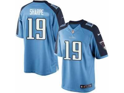 20f24b28f ... Men s Nike Tennessee Titans  19 Tajae Sharpe Limited Light Blue Team  Color NFL Jersey