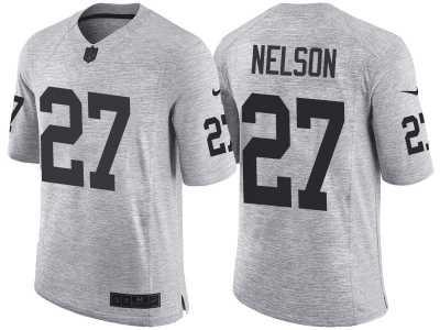Nike Oakland Raiders  27 Reggie Nelson 2016 Gridiron Gray II Men s NFL  Limited Jersey 7fa4aef60