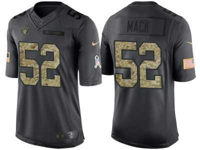 Cheap Nike Oakland Raiders #52 Khalil Mack Men's Stitched Black NFL Salute  hot sale