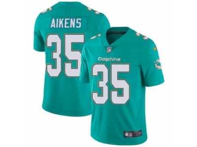 Men s Nike Miami Dolphins  35 Walt Aikens Vapor Untouchable Limited Aqua  Green Team Color NFL 920bf5434c6