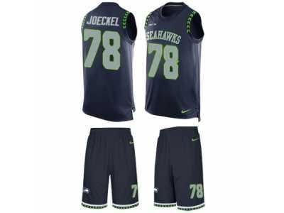 Men s Nike Seattle Seahawks  78 Luke Joeckel Limited Steel Blue Tank Top  Suit NFL Jersey c0ed17c57