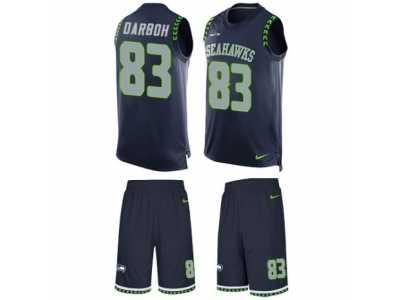 mens nike seattle seahawks 83 amara darboh limited steel blue tank top suit nfl jersey