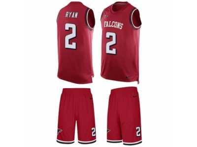 Men s Nike Atlanta Falcons  2 Matt Ryan Limited Red Tank Top Suit ... 2654ada0b