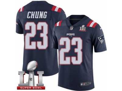 6dcf4897f99 Men's Nike New England Patriots #23 Patrick Chung Limited Navy Blue Rush  Super Bowl LI