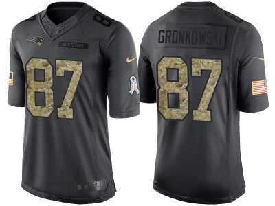 d1659dc4a Nike New England Patriots #87 Rob Gronkowski Men\'s Stitched Black NFL  Salute
