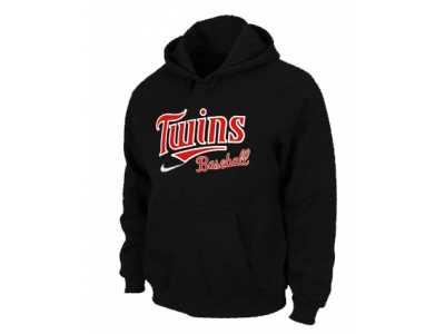 new product 138b5 d4848 Minnesota Twins Pullover Hoodie Black Minnesota Twins ...