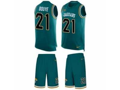 d17a8b9b2b8 Men\'s Nike Jacksonville Jaguars #21 A.J. Bouye Limited Teal Green Tank Top