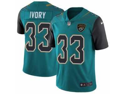 72b0af0cd Men  s Nike Jacksonville Jaguars  33 Chris Ivory Vapor Untouchable Limited  Teal Green