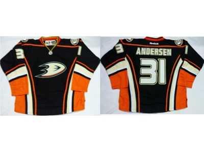 4395a354f Anaheim Ducks #31 Frederik Andersen Black Home Stitched NHL Jersey ...