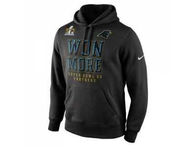 Discount Carolina Panthers Nike Black Super Bowl 50 Bound Won More Pullover