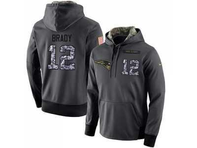 e35cff7d7 NFL Men  s Nike New England Patriots  12 Tom Brady Stitched Black Anthracite