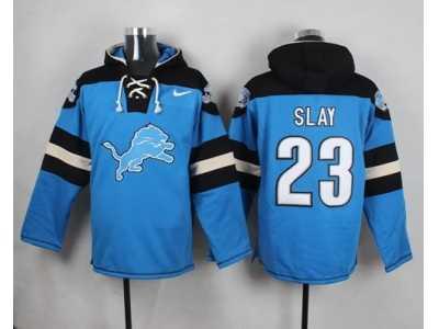 the best attitude 7e5f4 95172 Nike Detroit Lions #23 Darius Slay Blue Player Pullover NFL ...
