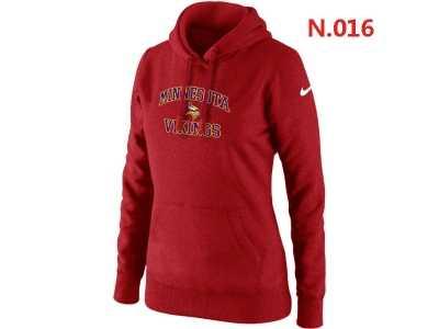 brand new 628db 61184 Women NEW Minnesota Vikings Heart & Soul Pullover Hoodie red ...