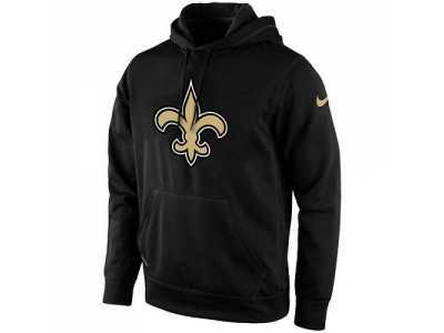 timeless design f4252 d5af0 Men's New Orleans Saints Nike Black KO Logo Essential Hoodie ...