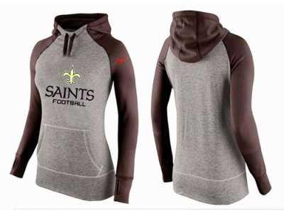 f36476480 Women Nike New Orleans Saints Performance Hoodie Grey   Brown Women ...
