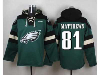 47ee77dc117 Nike Philadelphia Eagles  81 Jordan Matthews Green Player Pullover Hoodie