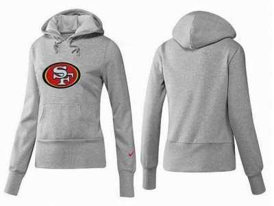 Discount Women San francisco 49ers Logo Pullover Hoodie 023 Women San  hot sale
