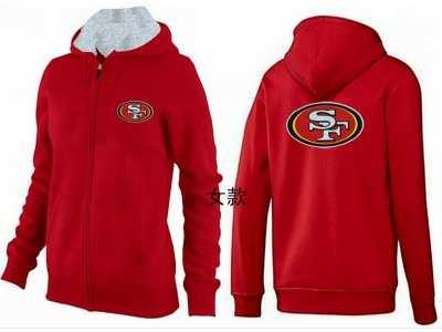 4cb9bdff0 Women San francisco 49ers Logo Pullover Hoodie-172 Women San ...