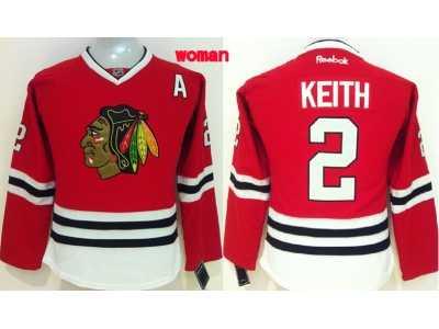 Women NHL Chicago Blackhawks  2 Duncan Keith red jerseys Women NHL ... b5161384b