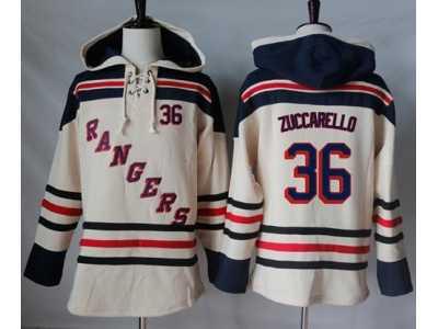Men  s New York Rangers  36 Mats Zuccarello Cream Sawyer Hooded Sweatshirt  Stitched 1b3e23ea7