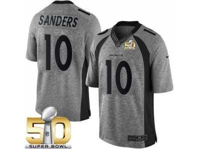 Nike Denver Broncos  10 Emmanuel Sanders Gray Super Bowl 50 Men s Stitched  NFL Limited Gridiron c487f6d7f