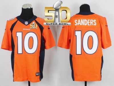 Nike Denver Broncos  10 Emmanuel Sanders Orange Team Color Super Bowl 50  Men s Stitched NFL 241f63d1a