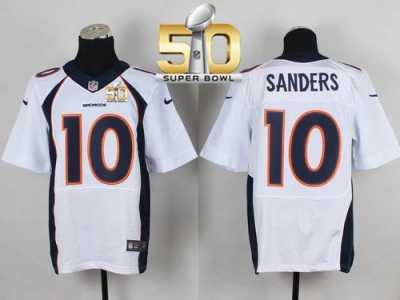 Nike Denver Broncos  10 Emmanuel Sanders White Super Bowl 50 Men s Stitched  NFL New Elite 1fa3412ec