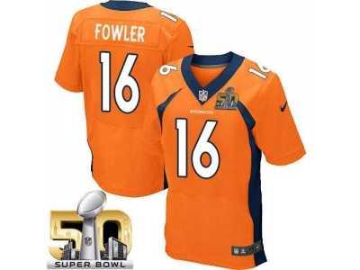 2917ef887 Nike Denver Broncos  16 Bennie Fowler Orange Team Color Super Bowl 50 Men s  Stitched NFL