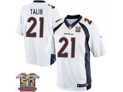 pretty nice f7961 ae919 Youth Nike Broncos #21 Aqib Talib White NFL Road Super Bowl ...