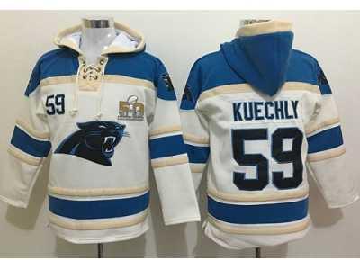 huge selection of 76742 932d5 Nike Carolina Panthers #59 Luke Kuechly White Super Bowl 50 ...